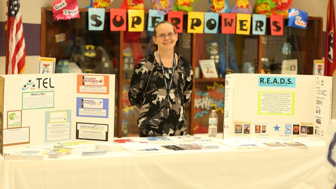 The Jackson-Madison County Library system was represented by Zoe Pride on Thursday at Jackson-Madison County Schools' first Multicultural Festival, at Thelma Barker Elementary School.