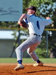 Mountain Home Lockeroom pitcher Gage McClain delivers