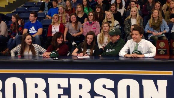 Roberson senior Lily Anderson will run in college for Dartmouth.