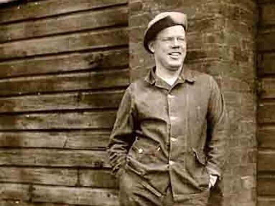 Army Pvt. Clifford Bowder during training for World War II.