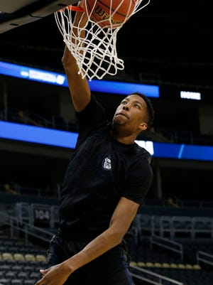 Butler Bulldogs forward Kameron Woods (31) shoots the ball during practice before the second round of the 2015 NCAA Tournament at Consol Energy Center.