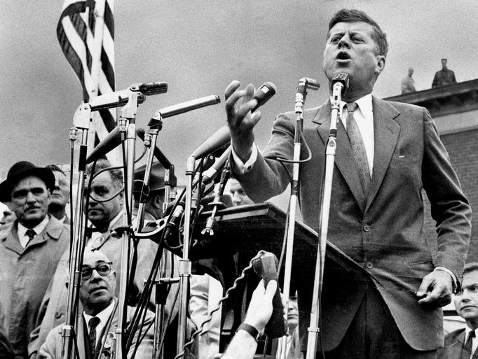 Sen. John F. Kennedy, the Democratic candidate for