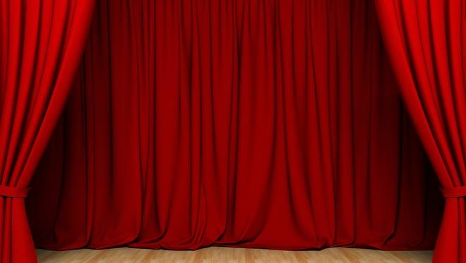 Red act drape