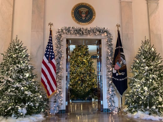the official white house christmas tree center is - White House Christmas Decorations