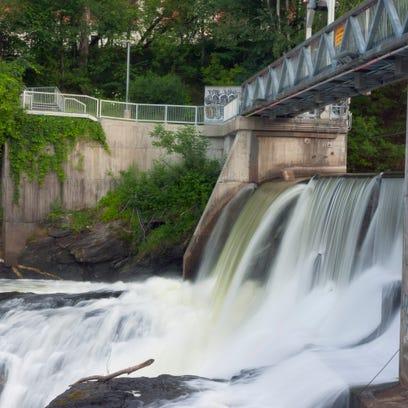 river water fall dam