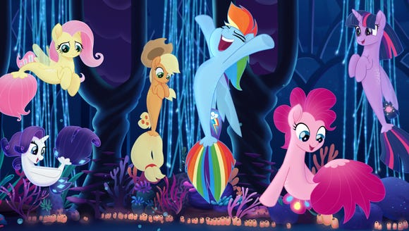 The Mane 6 get mermaid tails.
