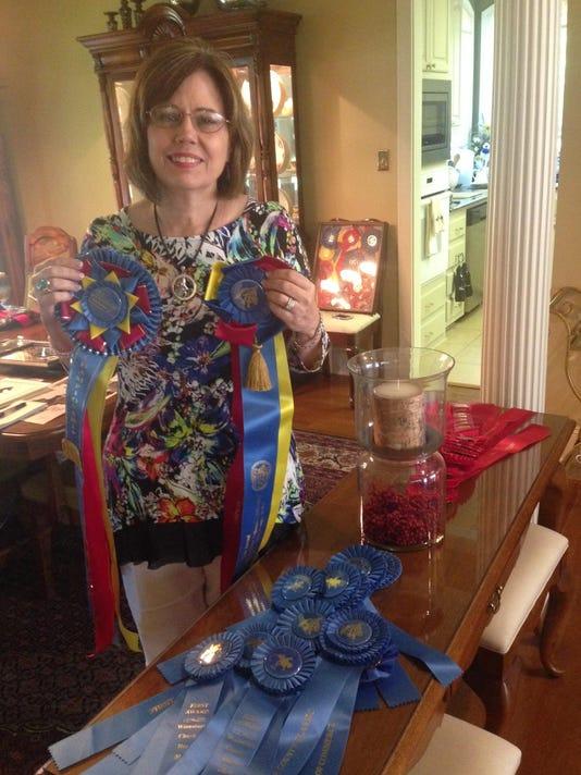 Carole and ribbons