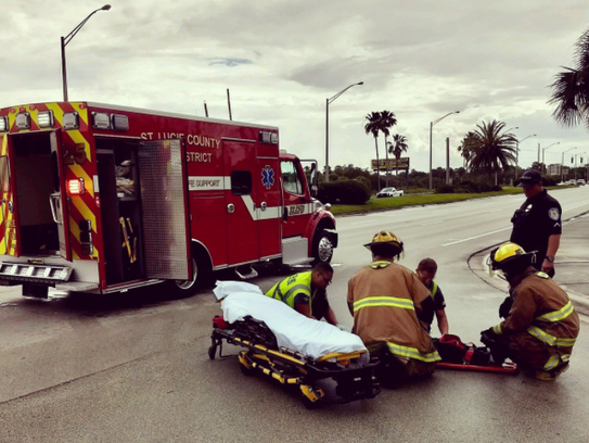 A female bicyclist was injured in a collision with