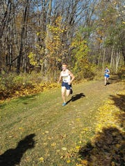 Leading the pack at NJCAA D-III nationals in upstate New York is Schoolcraft's Eric Wilkewitz.