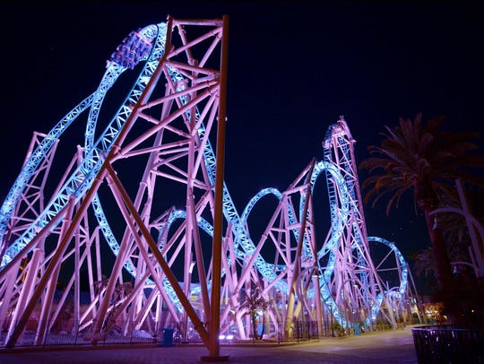 The HangTime coaster is the latest thrill ride at Knott's