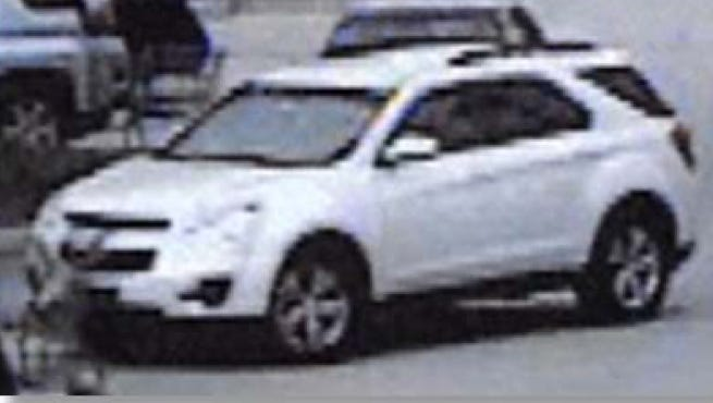 A surveillance camera recorded a newer model white Chevrolet Equinox SUV thought to be connected to a series of baby formula thefts in Port St. Lucie.