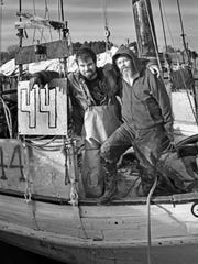 It's not uncommon for relatives to work aboard Deal Island skipjacks. Butch Lee Jr., left, and his father, Butch Lee Sr., have years of experience between them. The younger Lee is a crewman on the Somerset and his father worked on the City of Crisfield.