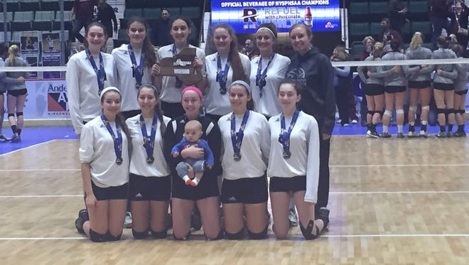 The Pawling Volleyball team took second place Sunday.