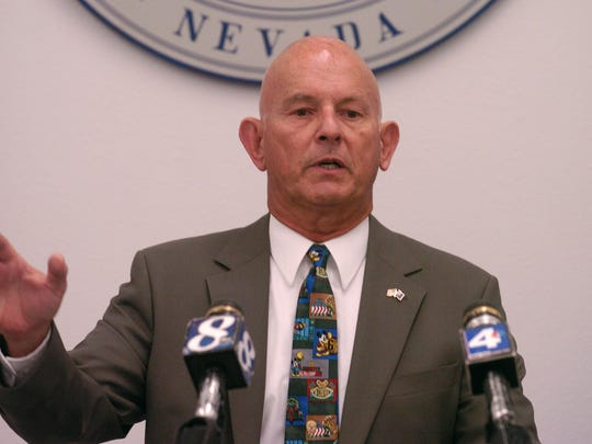 Washoe County District Attorney Richard Gammick is pictured as he announced that Clark County would try the Darren Mack case during a press conference on July 5, 2006.