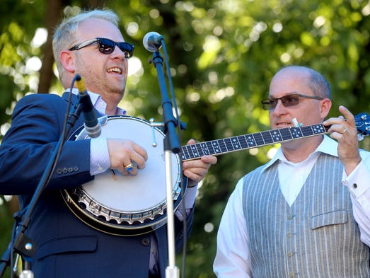Dailey & Vincent were presented this year's Heritage Award Winners and were the headline act on the second day of Uncle Dave Macon Days, on Saturday, July 12, 2014 in Murfreesboro, TN.