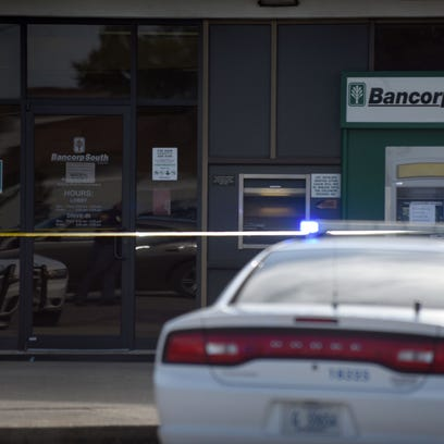 A bank robbery occurred at Bancorp South on Broadway