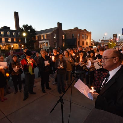 More than 100 people attended a vigil for Leo Hayes