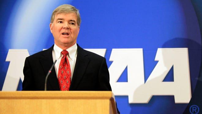 FILE - NCAA president Mark Emmert.