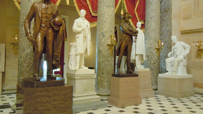 Statues located in the National Statuary Hall Collection in the Capitol Building in Washington D.C.