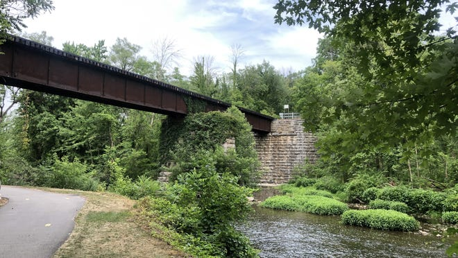 A walk on the Manchester Gateway Trail is a trip back in time to the days when Manchester thrived as a railroad town.