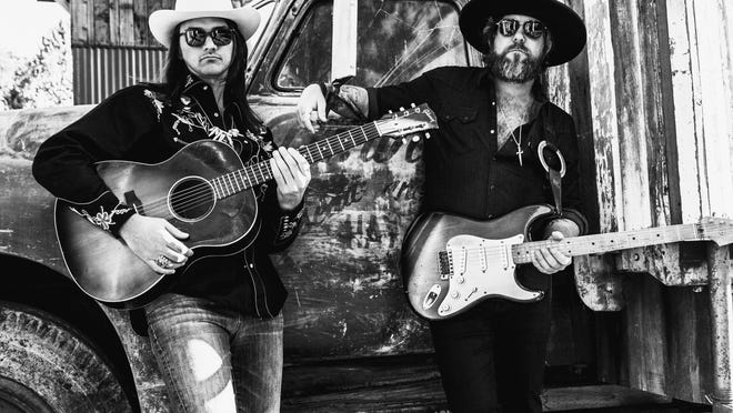 Duane Betts, left, and Devon Allman, right, have formed The Allman Betts Band, which performs at 6 p.m. Sunday, Nov. 22, at Evans Towne Center Park. Duane is the son of Allman Brothers Band guitarist Dickey Betts, and Devon is the son of the late Gregg Allman.