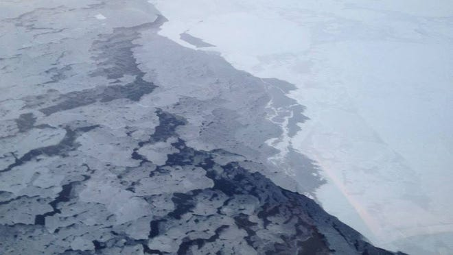 Arctic permafrost is slowly melting, due to global warming.