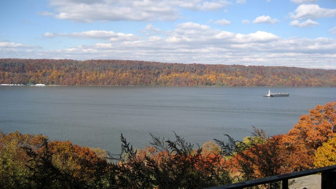 This undated image provided by Paul W. Romaine via the National Trust for Historic Preservation shows the Palisades, Englewood Cliffs, N.J., one of America's 11 most endangered historic places. Several generations have cherished the scenic Palisades cliffs along the Hudson River. Despite its designation as a National Historic Landmark, the LG Corporation plans to build an office tower along the cliffs in New Jersey, forever altering the landscape, preservationists say. (AP Photo/Paul W. Romaine via National Trust for Historic Preservation)