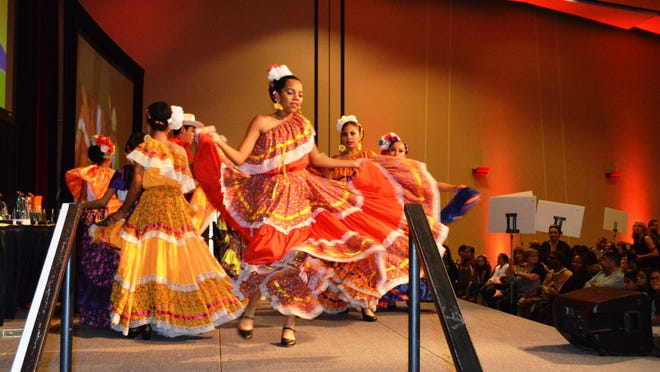Folkloric dancers perform May 5 during the Seventh Annual Digicom Student and Teacher Film Festival.