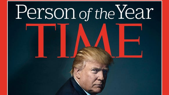 The Time magazine cover recognizing Donald Trump as