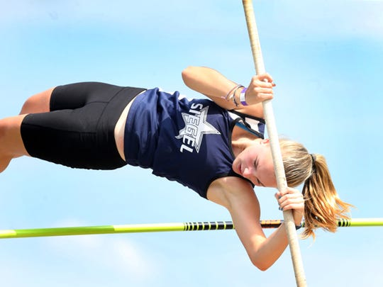 Siegel's Meg Tomayko finished sixth in the pole vault