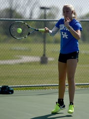 Centerville High School tennis player Chloe Uphaus