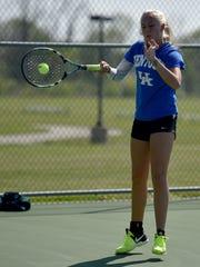 Centerville High School tennis player Chloe Uphaus