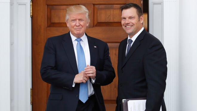 Kansas Secretary of State Kris Kobach met with President-elect Trump soon after the election, armed with proposed changes to federal voting laws that he's likely to propose as a leader of a newly created commission that will study alleged voter fraud.