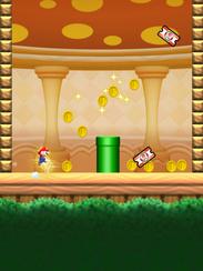 A scene from the mobile game 'Super Mario Run.'