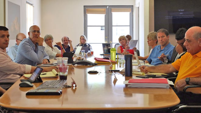 Members of the Desert Healthcare District hold their board meeting at Desert Regional Medical Center in Palm Springs, July 26, 2016.