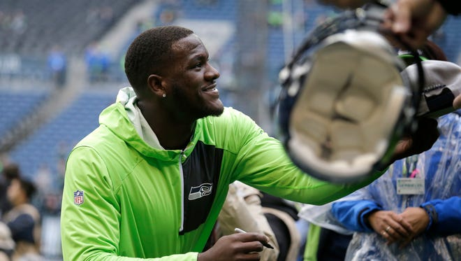 Seattle Seahawks defensive end Frank Clark.