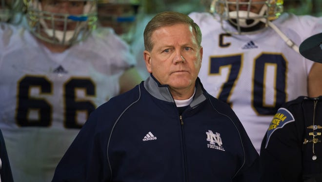 Notre Dame football coach Brian Kelly was listed with nearly $1.5 million in total pay in 2012.