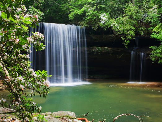 Alabama Caney Creek Falls in the Bankhead National