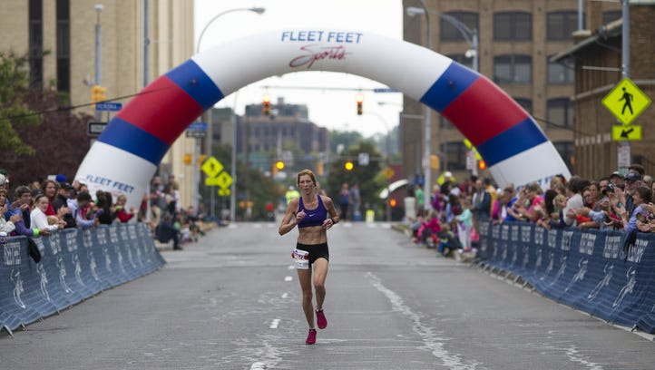Karen Blodgett of Fairport is the first woman to finish