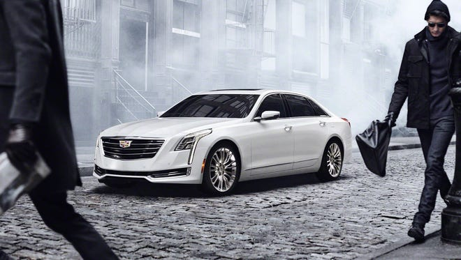 The 2016 Cadillac CT6 elevates to the top of the Cadillac range, and creates a new formula for the prestige sedan through the integration of new technologies developed to achieve dynamic performance, efficiency and agility previously unseen in large luxury cars. Pre-production model shown. General Motors photo received March 31, 2015 [Via MerlinFTP Drop]