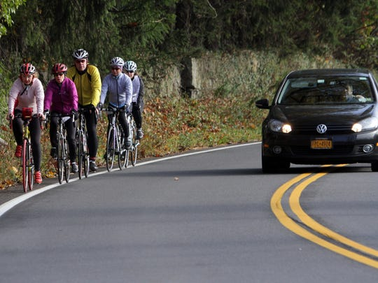 Orangetown recently passed a law requiring all bicyclists to ride single file.