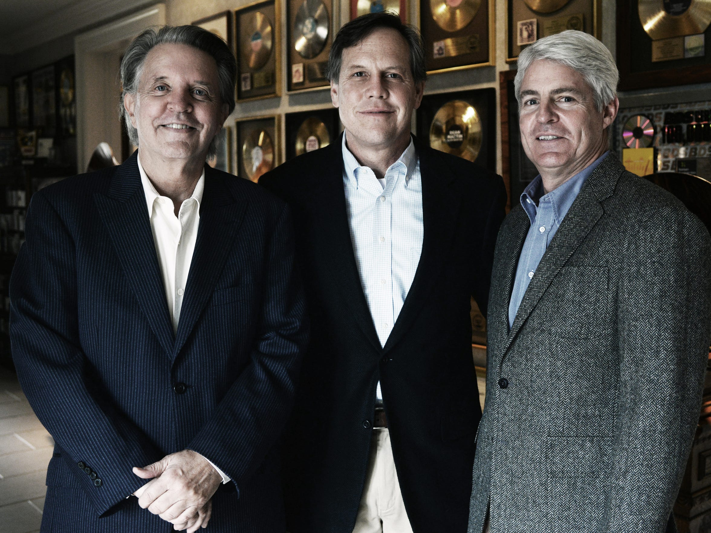The members of Studio A Preservation Partners, from left, Mike Curb, Aubrey Preston and Chuck Elcan.