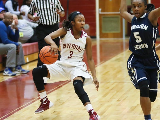 Rverdale's Anastasia Hayes led the Lady Warriors to