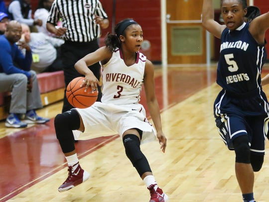 Rverdale's Anastasia Hayes led the Lady Warriors to wins over Mt. Juliet and East Nashville on Saturday.