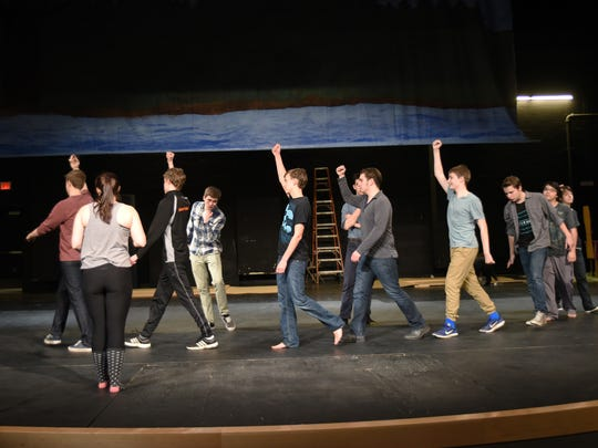 Silverton High School students practice their dance routines as they prepare to perform Cinderella Feb. 19 to 26.