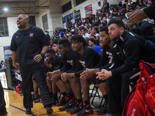 Northside coach Ross Rix and his Vikings lost a 60-57