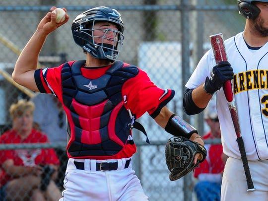 Teurlings Catholic catcher Austin Kirkpatrick is one