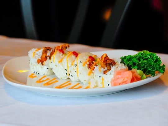 Ragin' Cajun roll from Saketini Seafood, Steakhouse