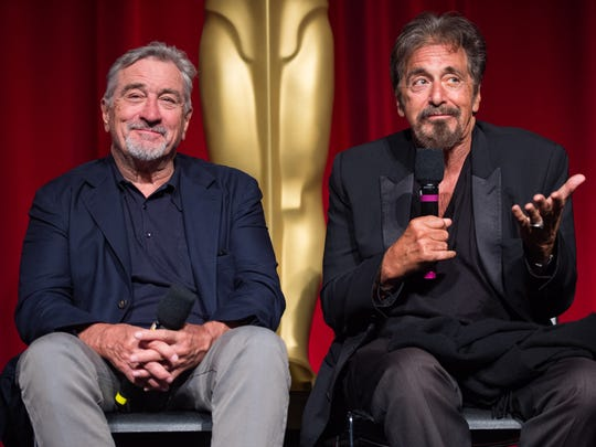 Robert De Niro (left) and Al Pacino following a screening
