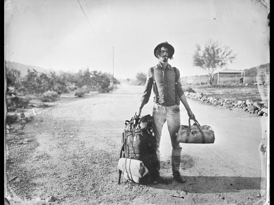 Cole Caswell, Transient Salesman, New River AZ, 2014; tintype; 8 x 10 in.